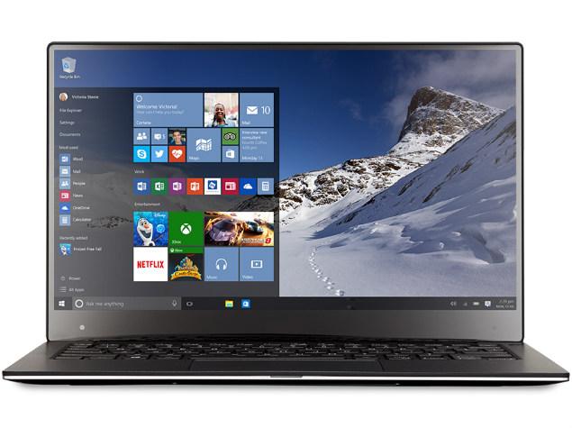 laptop running windows 10 microsoft