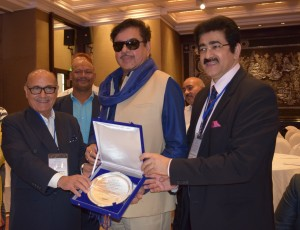 Left Mr Lalit Bhasin, Mr Shartugan Sinha and Mr Sandeep Marwah