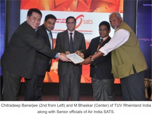 TUV Rheinland_Air India SATS Pic