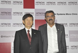 (L-R)Dr. Naoya Takahashi, President & CEO, Hitachi Systems, Ltd. and Mr. Tarun Seth, Managing Director at Hitachi Systems Micro Clinic Pvt. Ltd., 2