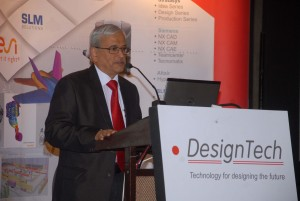 Mr Vikas Khanvelkar - MD- DesignTech Systems speaking at DesignTech Technology Day event