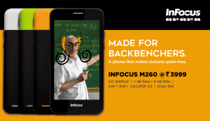 InFocus M260 at Rs. 3,999