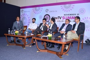 A panel discussion during NexTV Summit-New Delhi