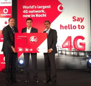 Sunil Sood - MD & CEO, Vodafone India announcing the launch of Vodafone's Ultrafast 4G Network in Kochi, India