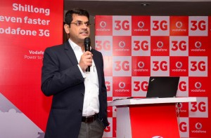 Alok Verma, Business Head, Assam & North East, Vodafone India during the launch of its own 3G services in Shillong