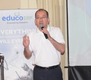 Yuji Nakata, MD of Konica Minolta India launching Educo ERP