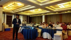 Mr. Dharmendra Khangwal, Territory Channel Manager, Kaspersky Lab South Asia presenting to the partners