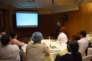 Ajay Kumar Joshi Director, Channel Sales, Kaspersky Lab addressing the partner meet
