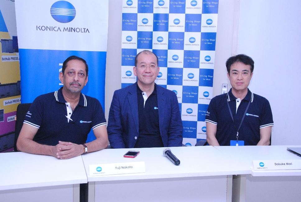 Mr. Yuji Nakata, MD, Konica Minolta India_Mr. V. Balakrishnan, Executive General Manager (EGM), Konica Minolta India_Mr. Daisoke Mori, Asia Pacific Business Manager, Konica Minolta Japan.