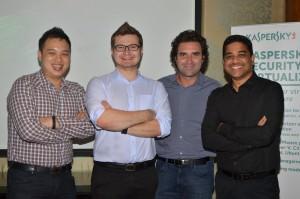 L to R - Jesmond Chang, Vitaly Kamluk, Alejandro Arango and Altaf Halde