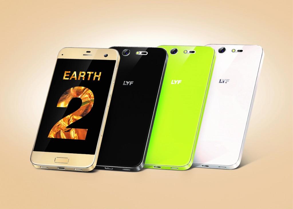 LYF Earth 2 Smartphone+ range