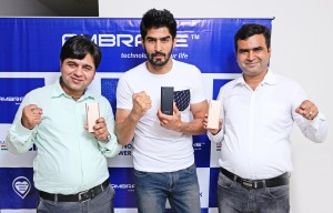 From Left Mr. Gaurav Dureja(Managing Director), Vijender Singh, Ashok Rajpal ( Managing Director).