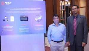 L-R Mr Pankaj Chawla,CTO,75 F and Mr Gaurav Burman,VP and Country President,75 F at the Launch of their Award Winning Dynamic Air Flow BalancingTechnology in India