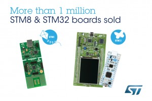STM32 and STM8 Microcontrollers from STMicroelectronics Drive the Smart Revolution, with Over One Million Developer Kits Delivered