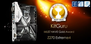 ASRock Z270Extreme4 Earned KitGuru MUST HAVE Gold Award