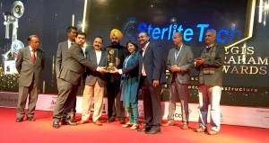Sterlite Tech Team receiving the Aegis Graham Bell Award-1